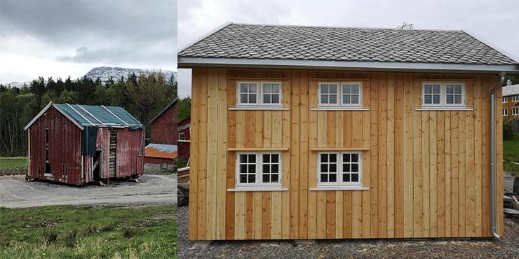 Renovering av fasade